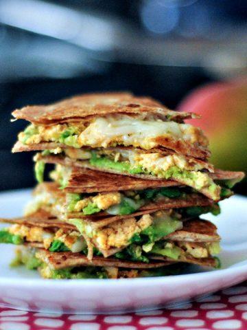 Chipotle Quesadillas with Minty Mango Salsa @spabettie