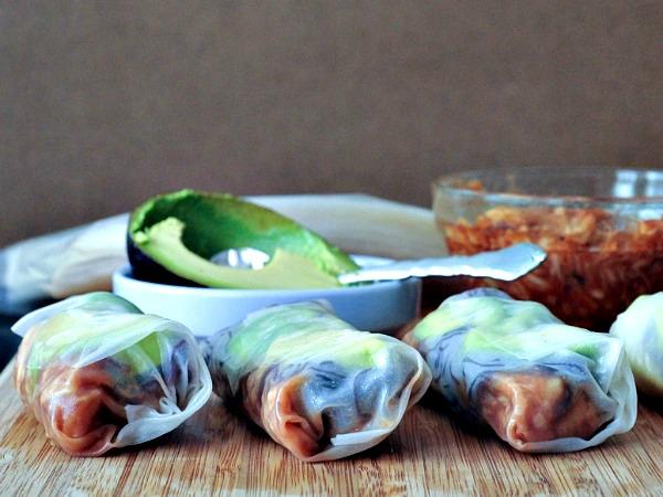 Buffalo Jack Avocado Noodle Rolls @spabettie