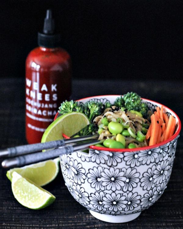 Spicy Peanut Veggie Noodle Bowl @spabettie
