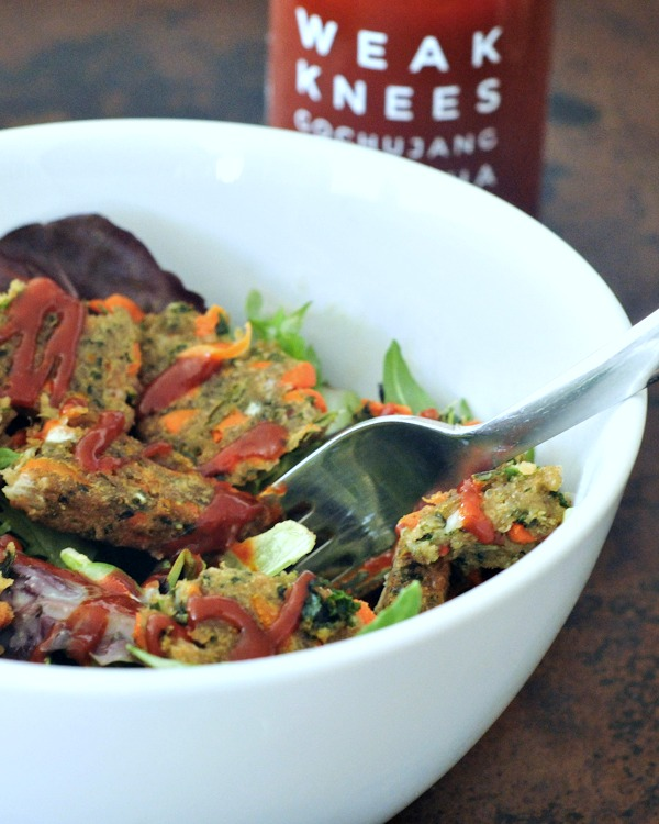 Veggie Burger Salad and Quick Dill Pickle Dressing @spabettie