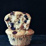 Fluffy Vegan Chocolate Chip Zucchini Muffins @spabettie