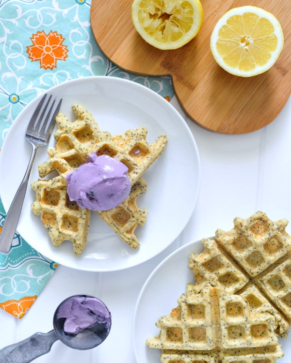 Vegan Lemon Poppyseed Waffles