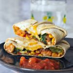 Fish Taco Crisp Wrap with Mango Salsa @spabettie