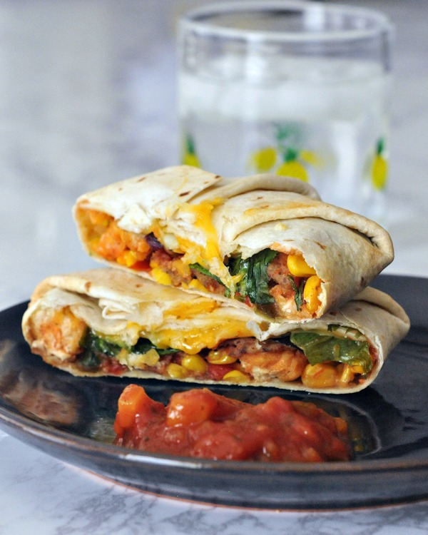 Fish Taco Crisp Wraps with Mango Salsa @spabettie
