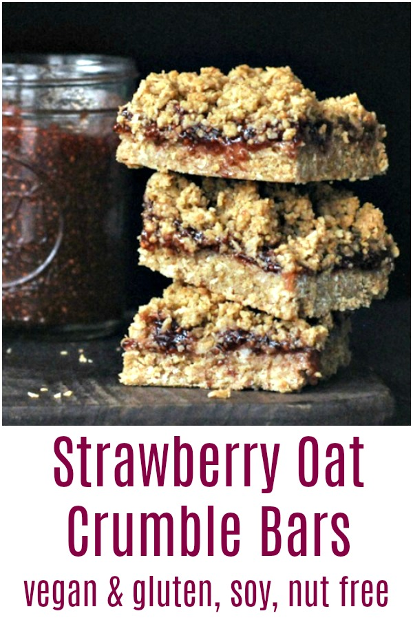 Strawberry Oat Crumble Bars @spabettie #vegan #glutenfree #soyfree #nutfree #dessert