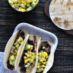 Beer Marinated Portobello Tacos with Avocado Corn Salsa @spabettie