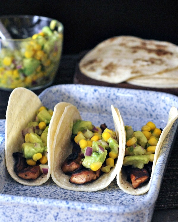 Beer Marinated Portobello Tacos with Avocado Corn Salsa @spabettie