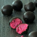 Dark Chocolate Dragon Fruit Coconut Treats @spabettie
