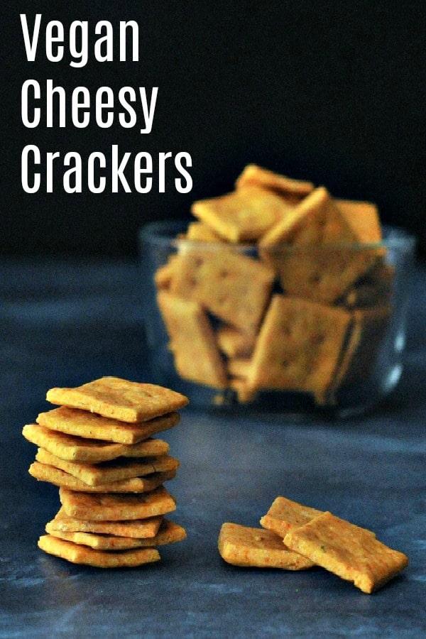 Vegan Cheesy Crackers @spabettie #vegan #snack
