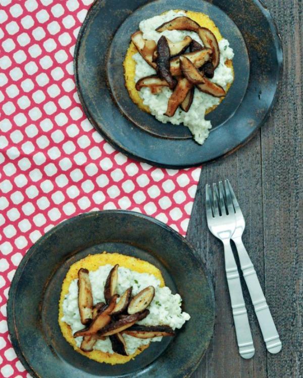Shiitake Cauliflower Risotto Polenta Stacks Vegan @spabettie