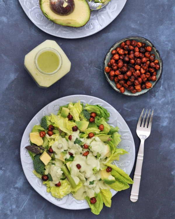 Hearty Nourishing Greens Salad Recipe @spabettie