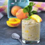 Juicy Peach Mint Chia Pudding @spabettie