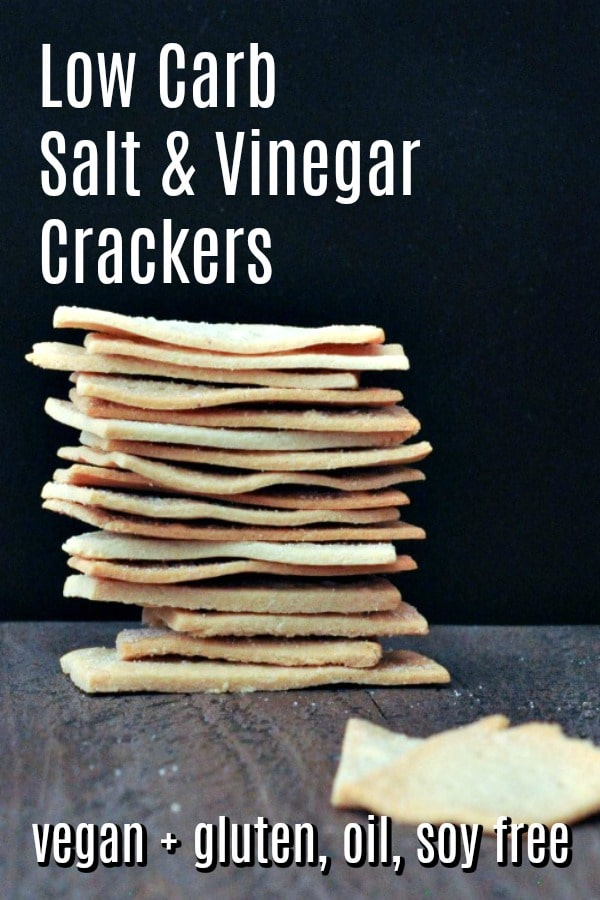 Low Carb Salt and Vinegar Crackers @spabettie #vegan #glutenfree #oilfree #soyfree #lowcarb #snack