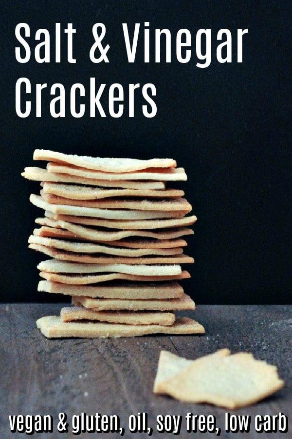 Salt and Vinegar Crackers @spabettie #vegan #glutenfree #oilfree #soyfree #lowcarb