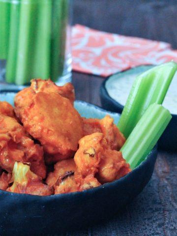 Vegan Air Fryer Buffalo Cauliflower @spabettie