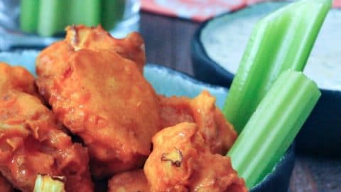 Vegan Air Fryer Buffalo Cauliflower