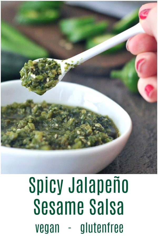 Spicy Jalapeño Sesame Salsa @spabettie #vegan #glutenfree