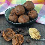 Triple Almond Cookie Dough Bites recipe @spabettie