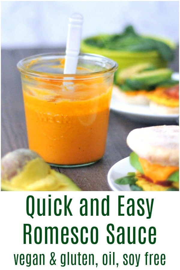 Quick and Easy Romesco Sauce @spabettie #vegan #glutenfree #oilfree #soyfree #sauce