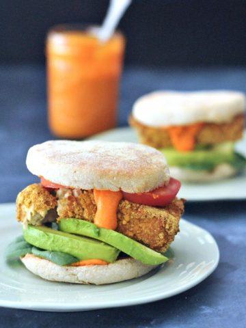 Sunrise Stack Veggie Breakfast Sandwich Oil Free @spabettie
