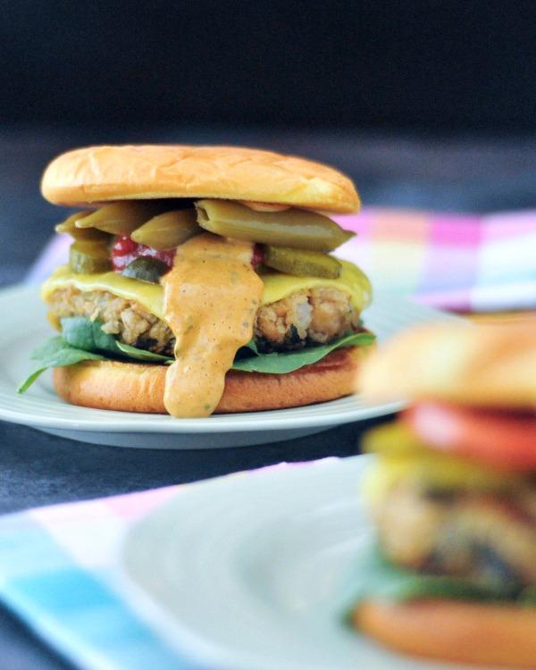 Tangy Spinach Artichoke Burgers Vegan @spabettie