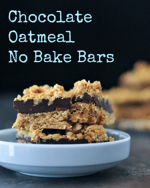 Tasty Chocolate Oatmeal No Bake Bars Vegan @spabettie