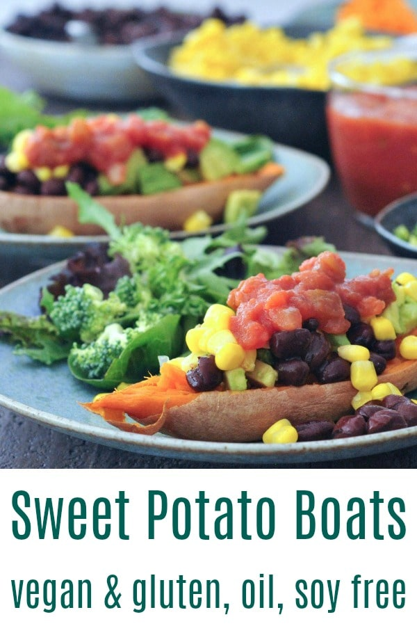 Savory Sweet Potato Breakfast Boats @spabettie #vegan #glutenfree #soyfree #oilfree #breakfast