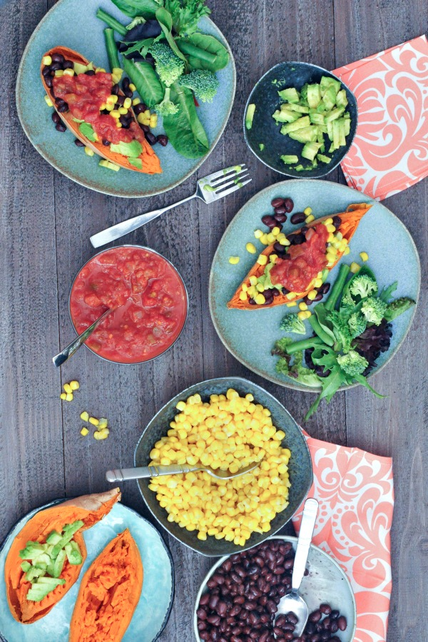 Vegan Breakfast Recipe Collection @spabettie Savory Sweet Potato Breakfast Boats #Vegan