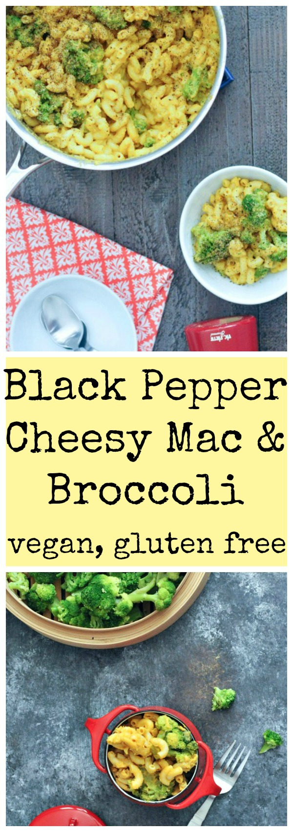 Black Pepper Cheesy Mac and Broccoli #Vegan @spabettie