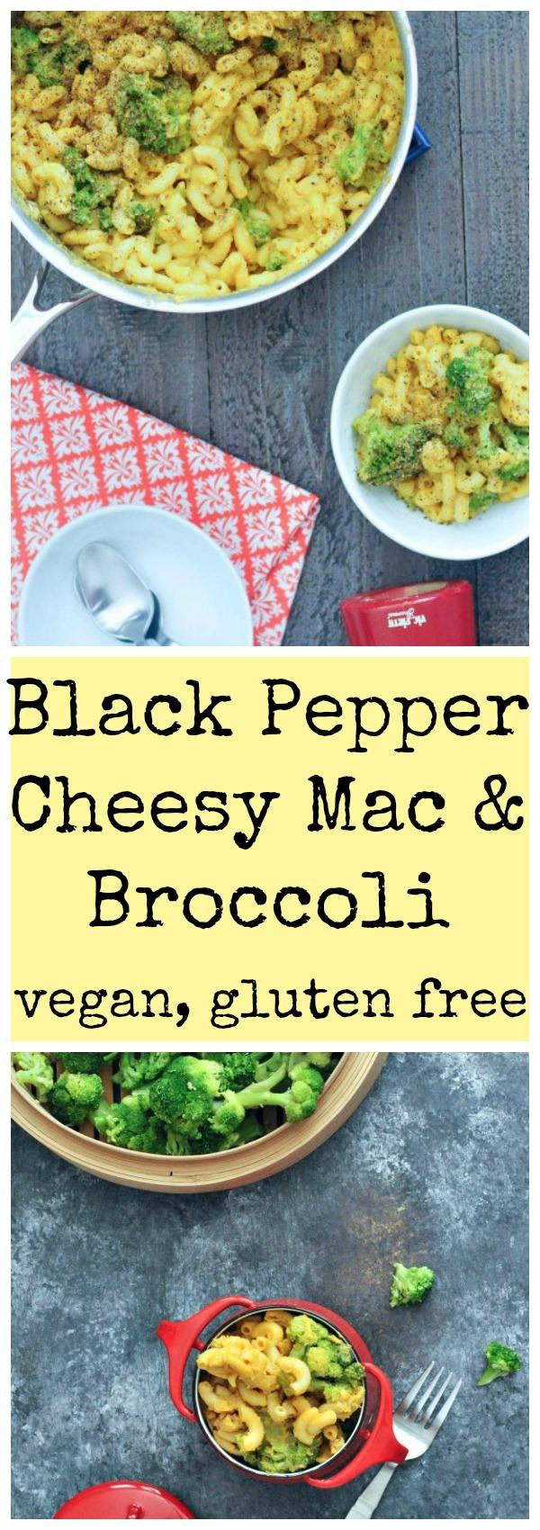 Black Pepper Cheesy Mac and Broccoli #Vegan @spabettie