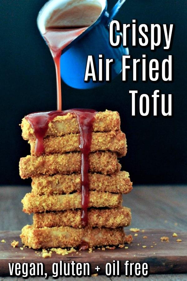 Crispy Southern Fried Tofu @spabettie #vegan #glutenfree #oilfree #tofu #airfryer