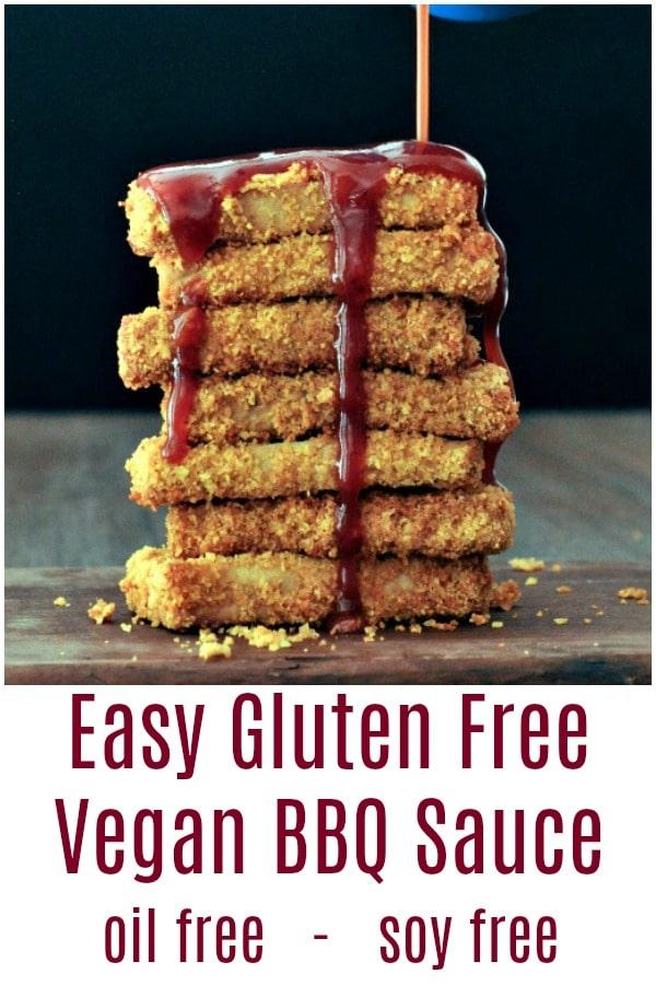 Easy Gluten Free Vegan BBQ Sauce @spabettie #vegan #oilfree #glutenfree