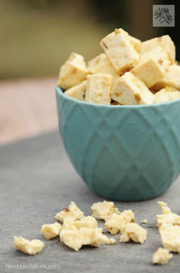 Baked Tofu Feta @frieddandelions