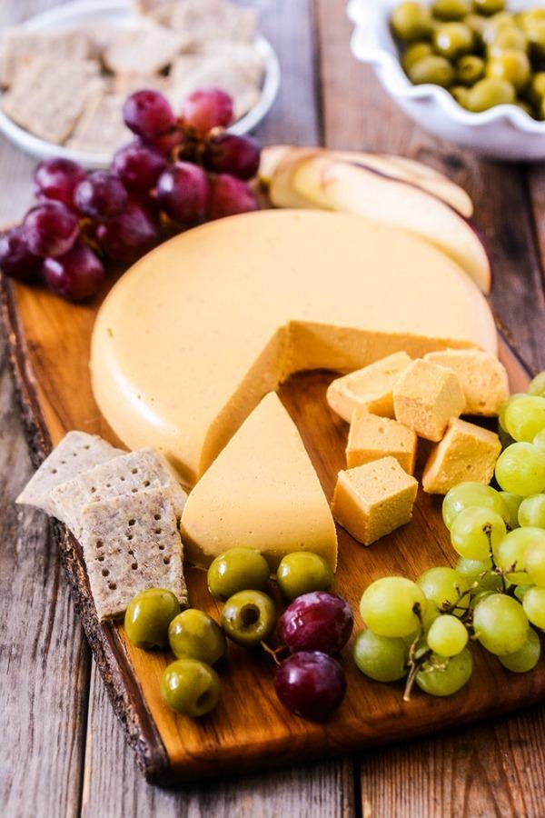 Vegan Cheddar Cheese @healthiersteps