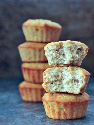 Easy Peanut Butter Banana Muffins @spabettie