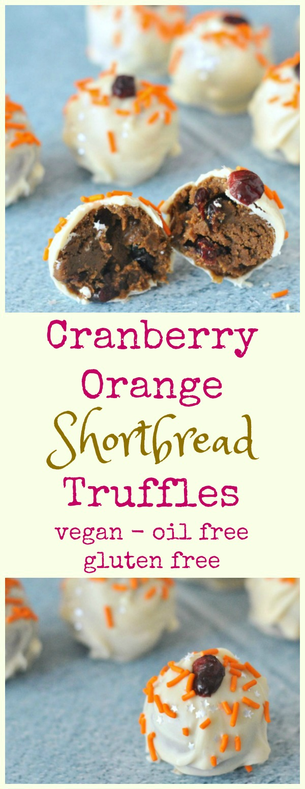 Cranberry Orange Truffles @spabettie #vegan #glutenfree