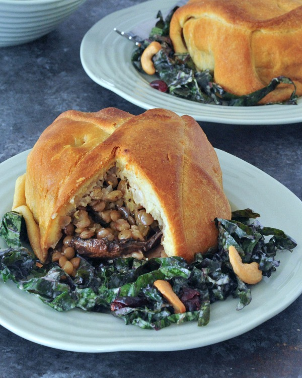 Hearty Protein Rich Portobello Wellingtons @spabettie #vegan