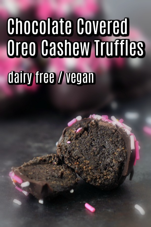 Chocolate Covered Oreo Cashew Truffles @spabettie #vegan #chocolate #dessert #valentines #truffles