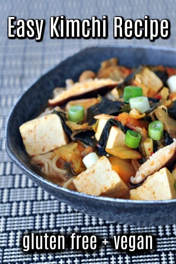 Easy Kimchi Recipe @spabettie #vegan #glutenfree