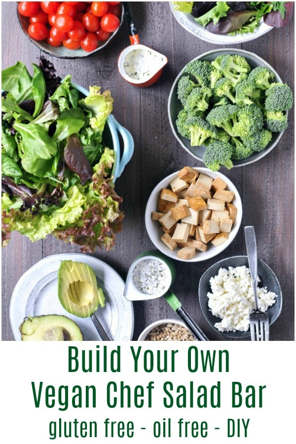 Build Your Own Vegan Chef Salad Bar @spabettie #vegan #glutenfree #oilfree #salad