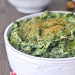Rich Cauliflower Creamed Spinach @spabettie #glutenfree