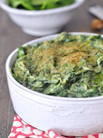 Rich Cauliflower Creamed Spinach @spabettie #glutenfree