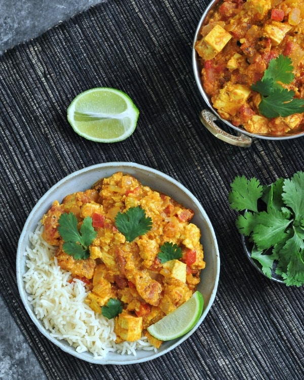 Tofu Paneer Tikka Masala @spabettie #vegan #glutenfree