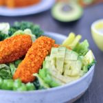 Vegan Buffalo Wing Salad @spabettie #vegan #glutenfree