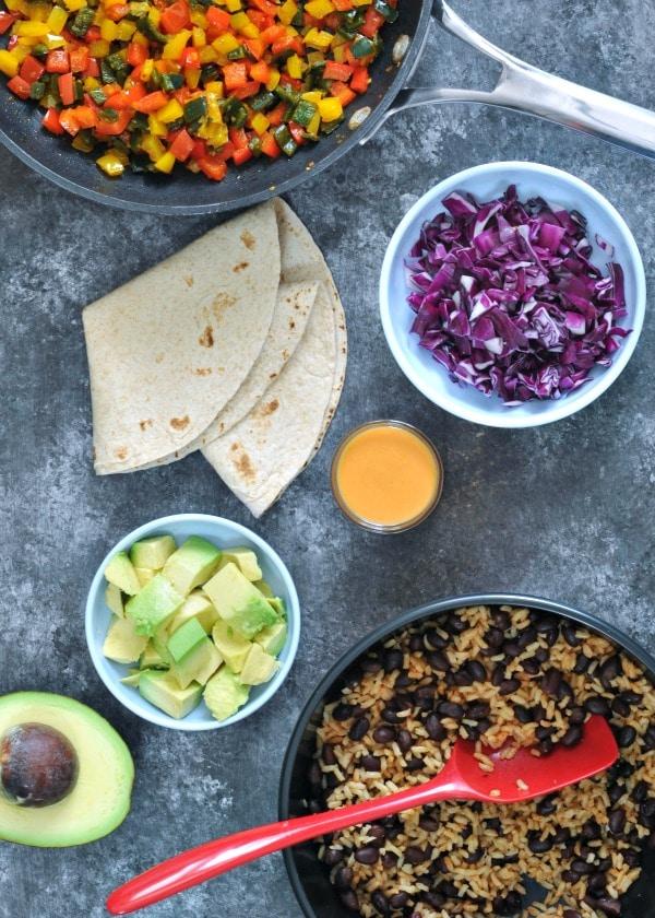 Smoky Tangy Chipotle Lime Burritos @spabettie #airfryer #vegan
