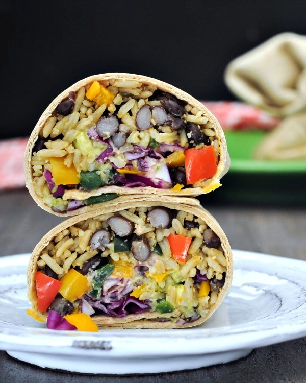 Smoky Tangy Chipotle Lime Burritos @spabettie #glutenfree