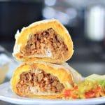Crispy Cheesy Vegan Quesarito @spabettie #vegan #dairyfree #airfryer #fastfood #burrito