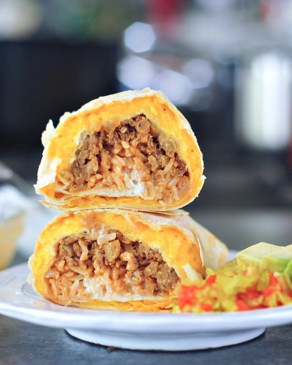 Crispy Cheesy Vegan Quesarito