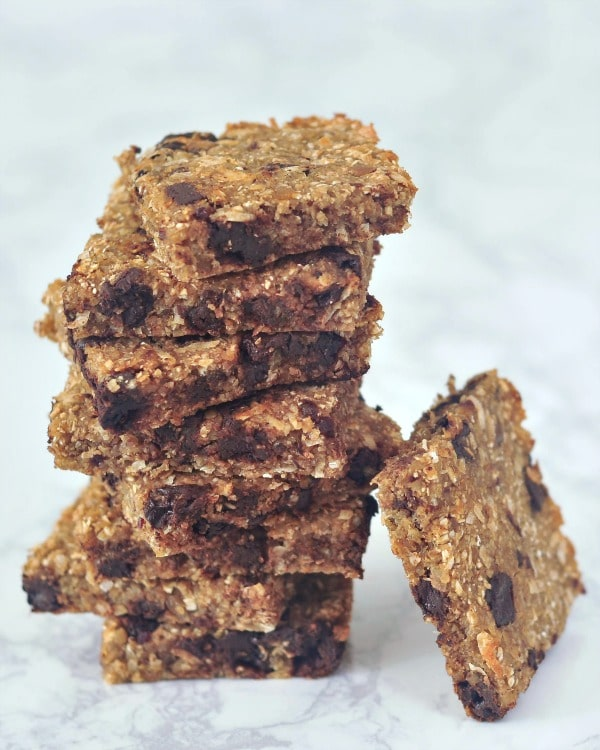 Easy Vanilla Chip Buckwheat Bars @spabettie
