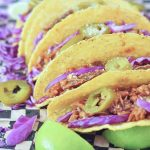 BBQ Pulled Porcini Tacos @spabettie #vegan #oilfree #glutenfree #BBQ #tacos